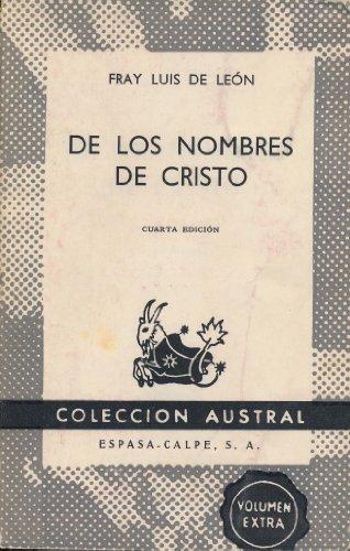 9788423905225: De los nombres de cristo