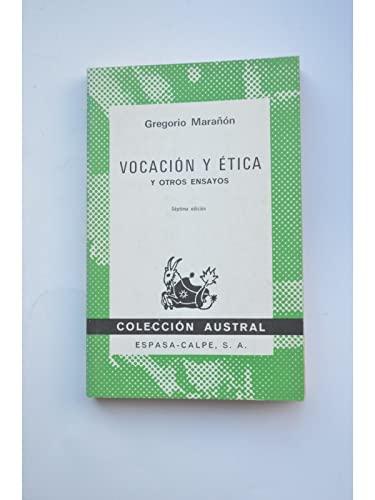 9788423906611: Vocacion y etica y otros ensayos