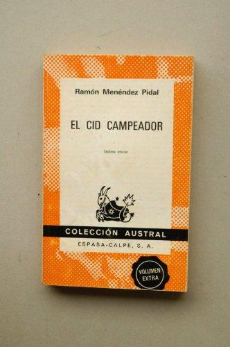 El Cid Campeador: Ramon Mendez Pidal