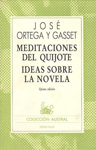 9788423913503: Meditaciones del quijote : ideas sobre la novela