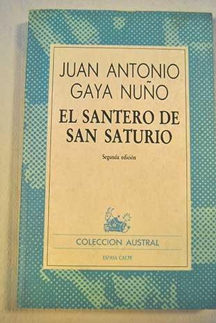 9788423913770: El santero de San Saturio