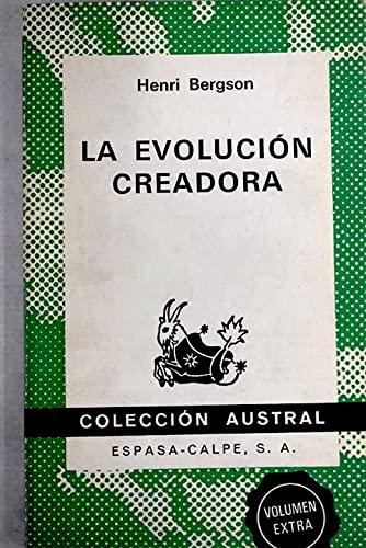 9788423915194: Evolucion creadora, la