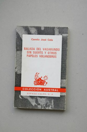 9788423915521: Cela-balada vagabundo (Colección Austral)