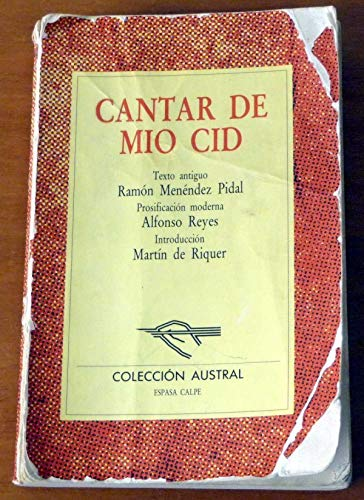 Cantar de Mio Cid/ The Poem of: Ramon Menendez Pidal