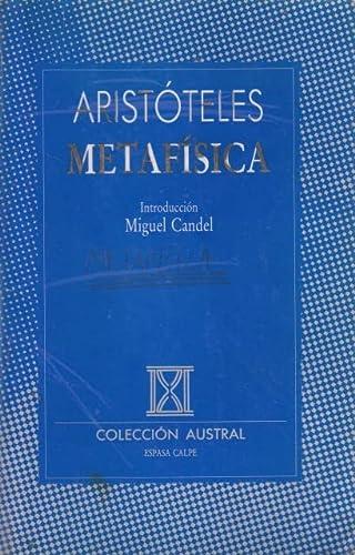 9788423918270: Metafisica (aristoteles) (Nuevo Austral)