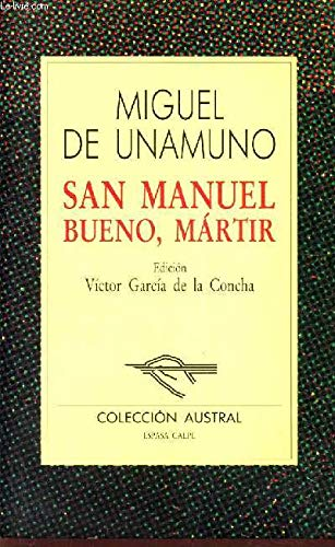 Stock image for San Manuel Bueno Martir for sale by Better World Books