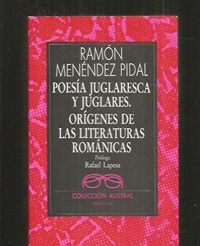 9788423919598: Poesía juglaresca y juglares