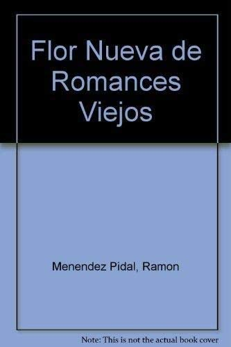 9788423920105: Flor nueva de romances viejos