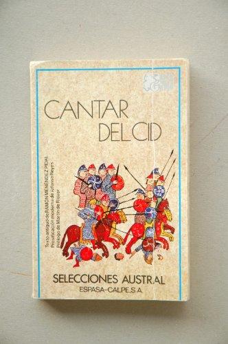 9788423920129: Cantar Del Cid (Selecciones austral ; 12 : Clásicos)