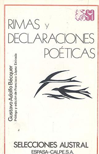 Rimas y declaraciones poeticas (Poesia ; 27): Becquer, Gustavo Adolfo