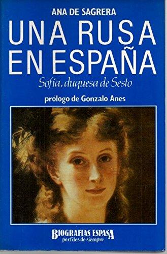 9788423922369: Una rusa en España: Sofia, duquesade sesto