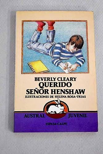 9788423927661: Querido Senor Henshaw / Dear Mr. Henshaw (Spanish Edition)