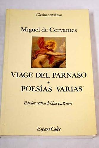 9788423938612: Viaje del parnaso y poesias varias (Clásicos castellanos. Nueva serie)
