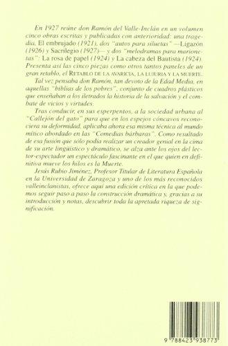 9788423938773: Retablo de la Avaricia, la Lujuria y la Muerte (CLASICOS CASTELLANOS)
