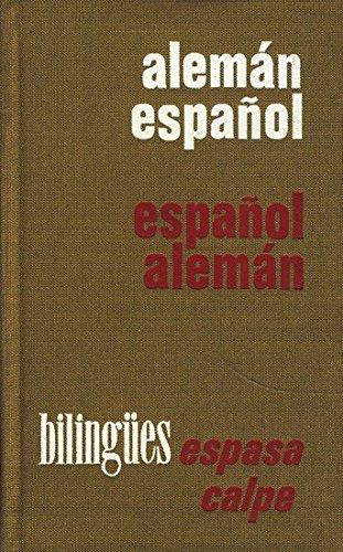 9788423947669: Diccionario manual aleman-espanol, espanol-aleman (Diccionarios bilingues Espasa-Calpe) (Spanish Edition)
