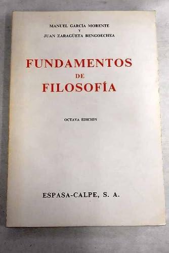 9788423955121: Fundamentos de filosofia