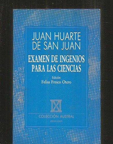 9788423972371: Examen de ingenios para las ciencias (Pensamiento) (Spanish Edition)