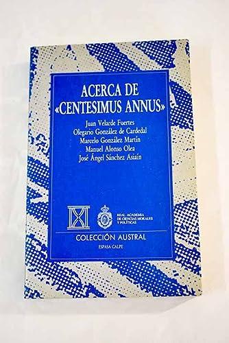 "9788423972456: Acerca de ""Centesimus annus"": Novena carta encícla de S.S. Juan Pablo II (Pensamiento) (Spanish Edition)"