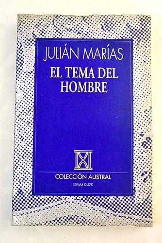 9788423972722: Tema del hombre