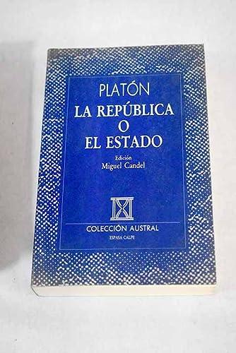 La Republica O el Estado: Platon