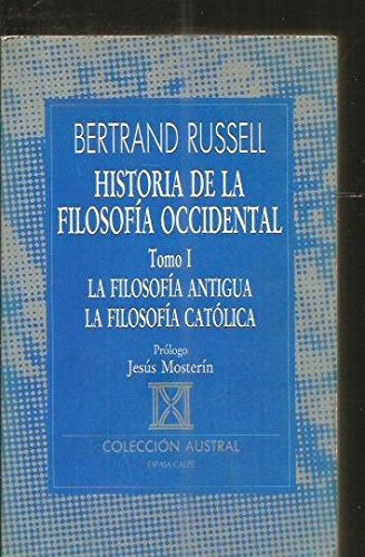Historia de la filosofía occidental tomo I: Russell, Bertrand