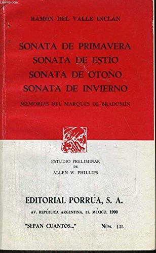 Sonata de Otono Y Sonata De Invierno: Ramon Del Valle-Inclan