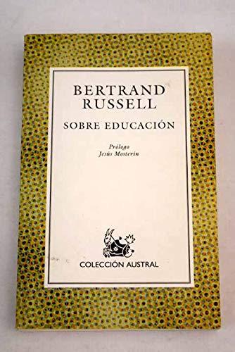 9788423974481: Sobre educación (Austral)