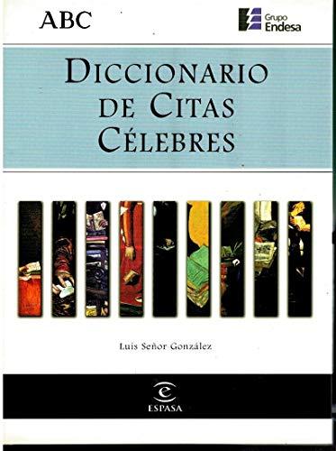 9788423986347: Diccionario de Citas Celebres (Spanish Edition)