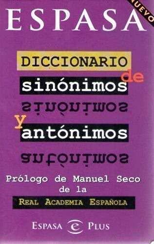 Diccionario Espasa de Sinonimos y Antonimos: Equipo