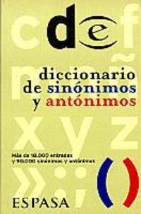 Diccionario De Sinonimos Y Antonimos (Espasa Bolsillo): Espasa Staff Editor