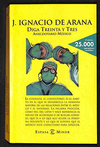 DIGA TREINTA Y TRES. ANECDOTARIO MEDICO: J. IGNACIO DE