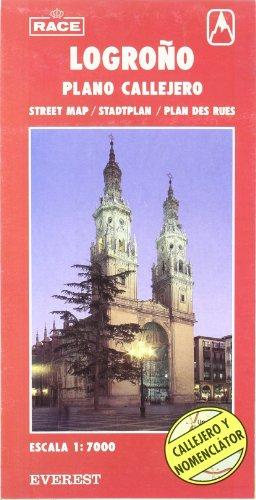 9788424100452: Logroño, La Rioja. Plano callejero y mapa de carreteras (Planos callejeros/serie roja)