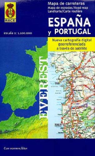 9788424101008: Mapa de carreteras de España y Portugal. 1:1.100.000: Nueva cartografía digital georreferenciada a través de satélite. (Mapas de carreteras)