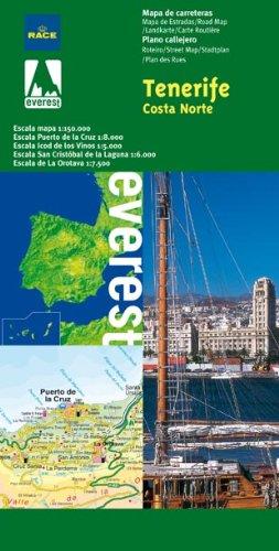 9788424101107: Mapa provincial de Tenerife costa norte: Mapa de carreteras. Plano callejero. (Mapas provinciales / serie verde)
