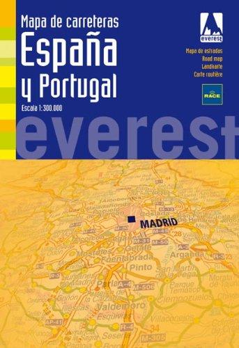 9788424102005: Mapa de carreteras de España y Portugal. 1:300.000