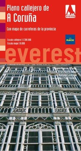 9788424102760: Plano callejero de A Coruña: Con mapa de carreteras de la provincia (Planos callejeros / serie roja)