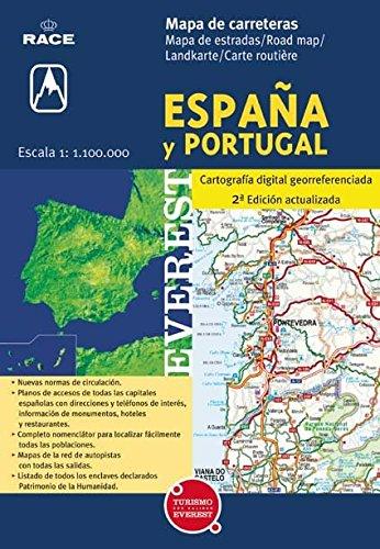 9788424104504: Mapa de carreteras de España y Portugal. 1:1.100.000: Cartografía digital georreferenciada. (Mapas de carreteras)
