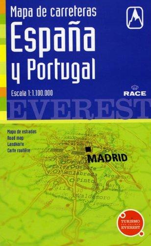 9788424106362: Mapa de carreteras de España y Portugal. 1:1.100.000: Cartografía digital georreferenciada. (Mapas de carreteras)