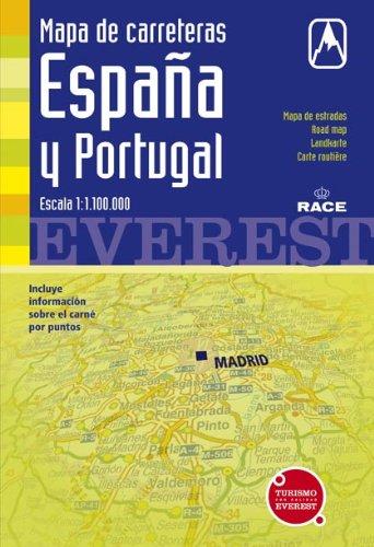 9788424110888: Mapa de carreteras de España y Portugal. 1:1.100.000: Cartografía digital georreferenciada. (Mapas de carreteras)