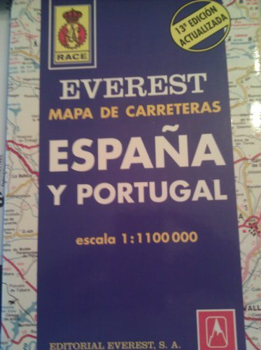 Mapa Everest general de carreteras Espana y: Editorial Everest