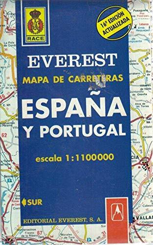 9788424141226: Mapa Everest de carreteras, España y Portugal (Spanish Edition)