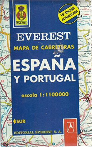 Mapa Everest de carreteras, Espana y Portugal: Editorial Everest