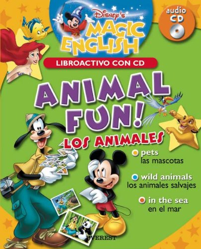 9788424183523: MGE(C.ACT). ANIMAL FUN!/LOS ANIMALES (INC.CD) (BILINGUE)