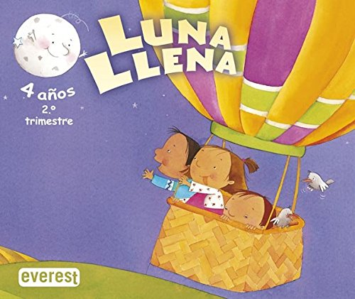 9788424189167: Luna llena 4 años. 2º trimestre