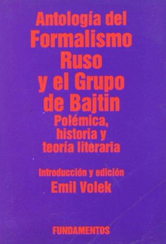9788424505820: Antologia del Formalismo Ruso y El Grupo de Bajtin (Spanish Edition)