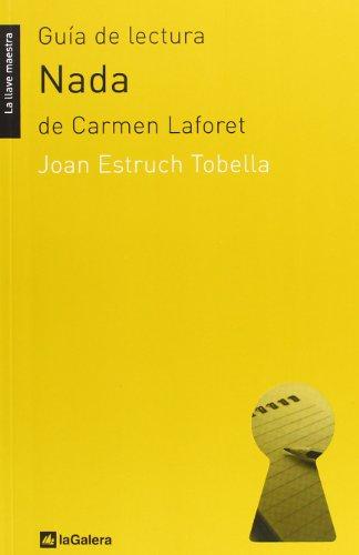 9788424630195: GUIA DE LECTURA NADA DE CARMEN LAFORET