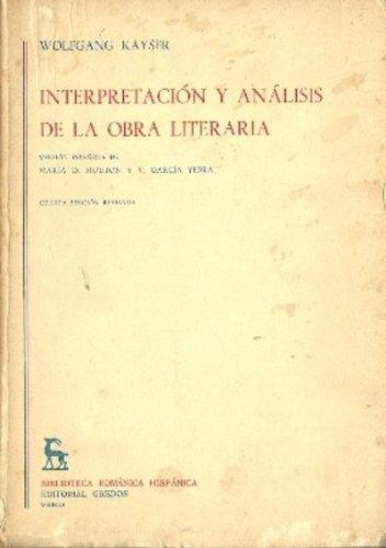 9788424900069: Interpretación y Análisis de la Obra Literaria