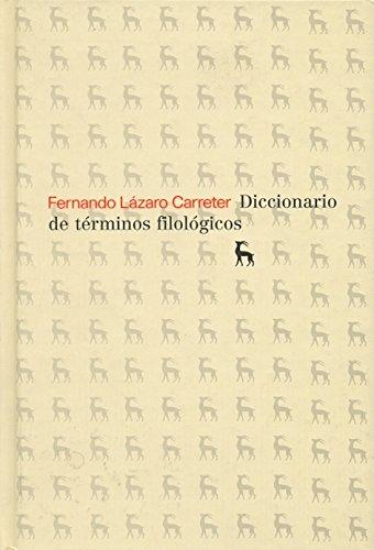 9788424900427: Diccionario de terminos filologicos (DICCIONARIOS)
