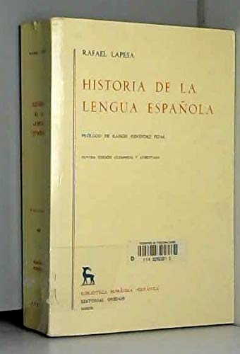 9788424900731: Historia de la Lengua Espanola, Novena Ed. Corregida y Aumentada