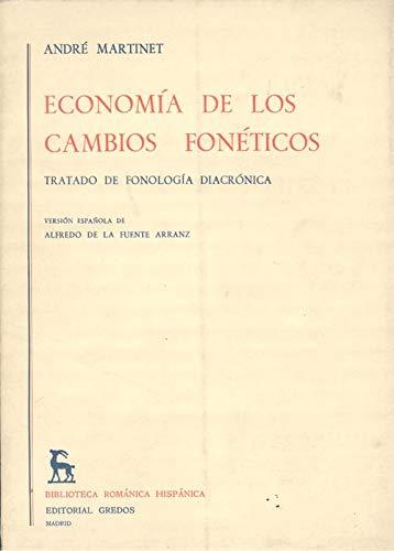 9788424905873: Economia de Los Cambios Foneticos (Spanish Edition)